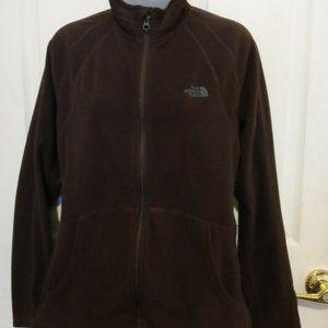 THE NORTH FACE Fleece Zip Up Jacket L Brown